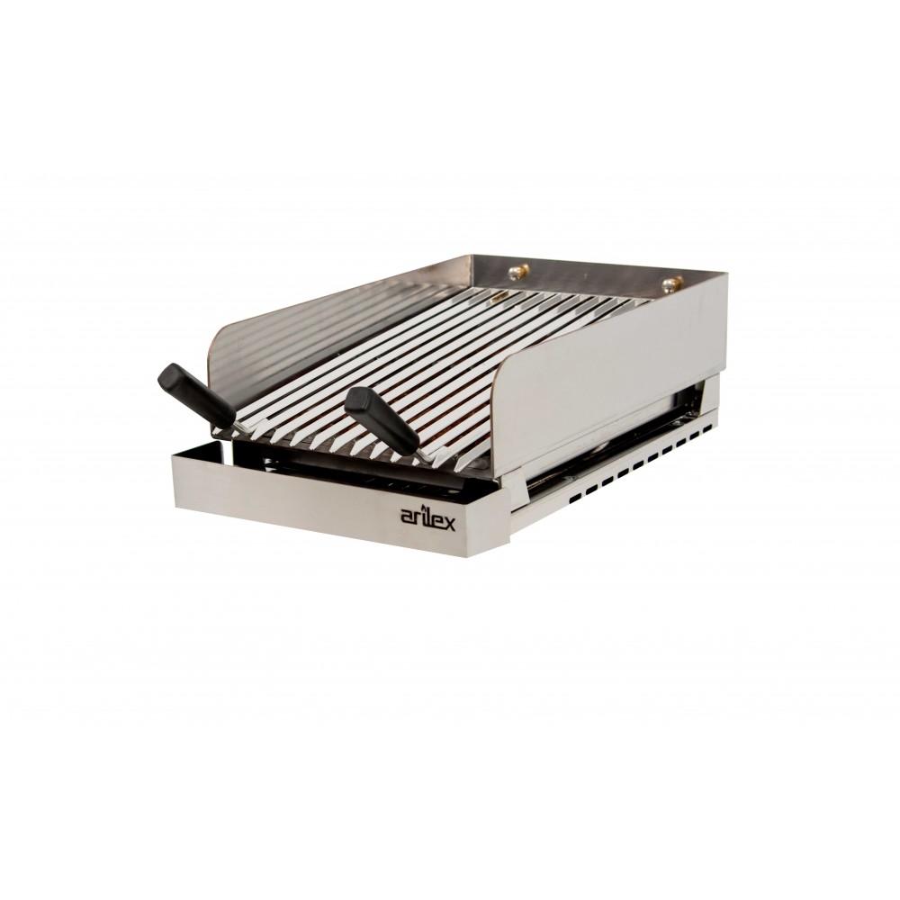 Plancha eléctrica cromo Serie 600